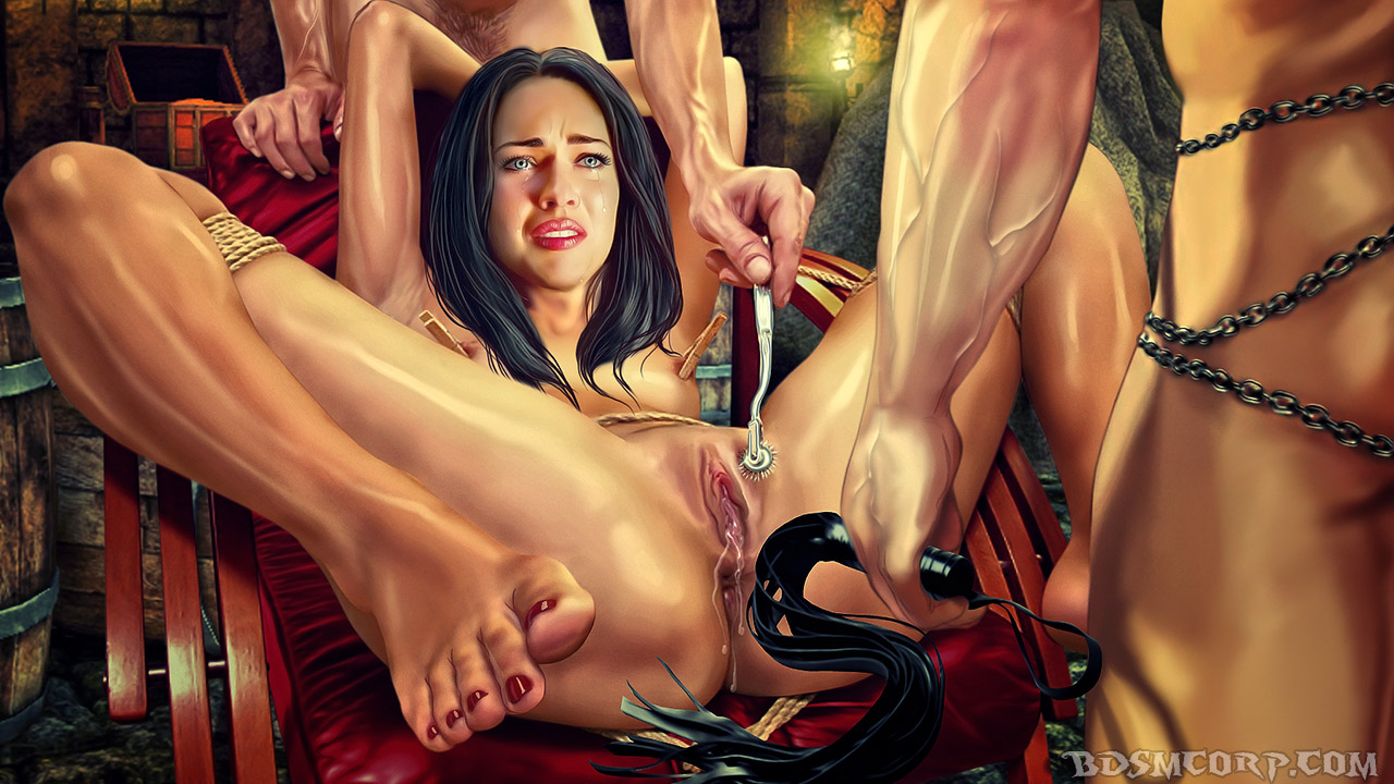 bdsm corp. perfect slaves fucking dungeon bondage orgasms cartoons
