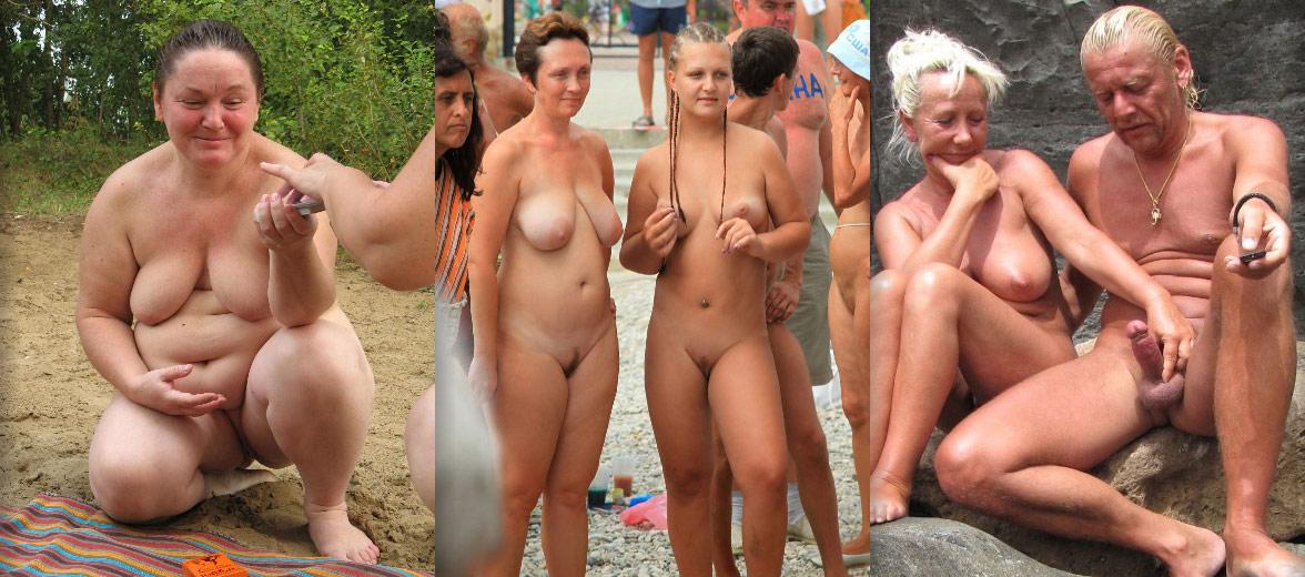Fat old nudists